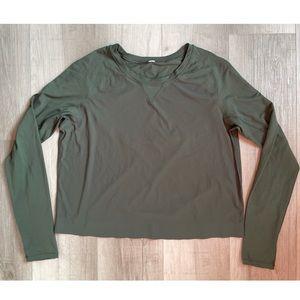 Lululemon Cropped Long Sleeve Shirt
